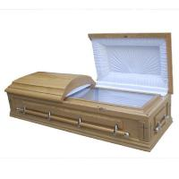 Buy cheap CIQ Certificate Funeral Coffin / Wood Caskets With Lining And Lid Lining product