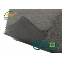 Buy cheap Lightweight Twill Woven Lining Water Jet Polyester Interfacing Black Color product