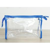 Buy cheap Transparent PVC Cosmetic Bag with Zipper closure , Clear Vinyl Make-Up Pouches from wholesalers