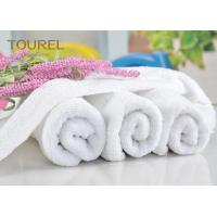 Quality Luxury 21S/2 Cotton Terry Hotel Hand Towels Plain Design for Gym for sale
