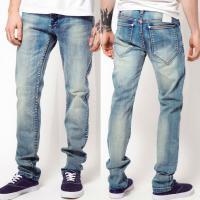 Buy cheap High quality men jeans wash artwork denim jeans   product