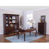 Buy cheap Rubber Wood Home office room furniture bookcase set by Glass door with Shelves and Study desk Computer table product