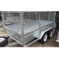 10 X 6 Steel Stock Crate Trailer / Tandem Cage Trailer For Animal Transport