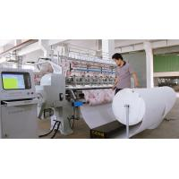 Buy cheap Industrial Two Needle Row Multi Needle Quilting Machine 2.4M Quilt Making Machine product