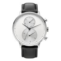 Buy cheap CD Grain Face Quartz Silver Stainless Steel Watch Sr626sw With Black Leather Strap product