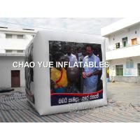 Buy cheap Cube / Dice Shaped Inflatable Advertising Products Sky Helium Balloon Logo Printing product