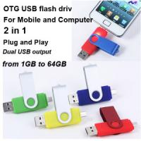 Buy cheap Smart Phone OTG USB Flash Disk , Logo Printing Mobilephone USB Stick 1gb 2gb 4gb product
