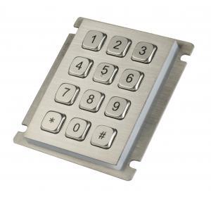 Buy cheap 12 teclado de aço inoxidável do curso longo da prova da poeira das chaves IP65 com a montagem de painel superior from wholesalers