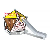 Buy cheap Commercial Children'S Playrope Play Equipment  By Big Stainless Steel Slide Single Square Type product