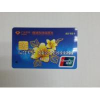 China Dual Interface UnionPay Card with Embossing Card Number/Debit Card Size on sale