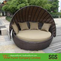 China Round Outdoor rattan daybed With Washable Cushions, Modern Outdoor Furniture on sale