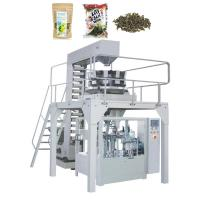 China Zipper Stand Up Pouch Packaging Machine For Candy Tea Nuts Biscuit Frozen Food on sale