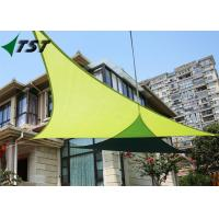 China Green Color Polyester Outdoor Shade Sails , Canvas Shade Canopy 160gsm-350gsm Weight on sale