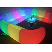 Buy cheap Custom Made Royal Furniture L Shape LED Sofa Set for Hotel , Resorts pub product
