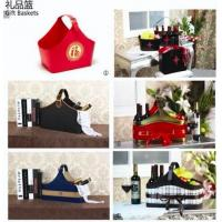 Buy cheap Hotel supply Leather pu baskets for gifts and hamper product