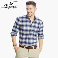 Buy cheap Fashion Fitted Slim Fit Cotton Shirts 100% Cotton Casual Office Men Check Shirts product