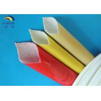 Oil Resistant Benzene Resistant Braided Fiberglass Sleeve with Polyurethane Saturated