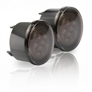 China Amber Front LED Turn Signal Light Assembly for 2007~2016 Jeep Wrangler JK Turn Lamp Parking Lights Bulb Smoke Lens on sale