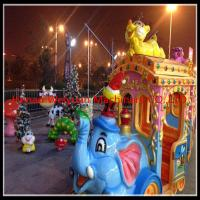 Buy cheap 16 seats  Amusement Rides Big Amusement Park Equipment Elephant Trackless Train product