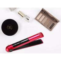 China Pink Beauty Hair Tools Rechargeable Hair Straighteners 2400mah Battery Capacity working above 60hours on sale