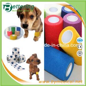 非編まれた獣医の包帯ペット包帯の覆いの凝集の伸縮性がある包帯