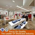Buy cheap hot sale wood design garments shop decoration product