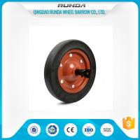 China 13inches Rubber Tyred WheelsCentered Hub Line Tread 20mm Bore Hole Multi Corlor on sale