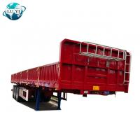 Buy cheap Carbon Steel 3 axles 13m 40ft  removable platform  side wall cargo semi  truck trailer product