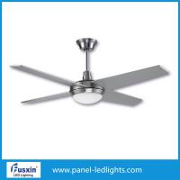 China New 52 outdoor big decorative LED light ceiling fan with remote control on sale