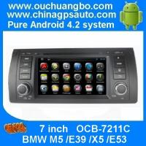 China BMW M5 /E39 /X5 /E53 dvd radio with gps navigation bluetooth usb mp3 player OCB-7211C on sale