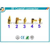 China 50 Ohm , 75 Ohm Right Angle Straight SMB Coaxial Connector Low Reflection on sale