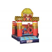 Buy cheap New Construction workers inflatable bouncer inflatable construction site jump from wholesalers
