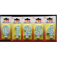 Best Selling-Factory Handmade number candle with the Green Edge AND 3 colors line painted