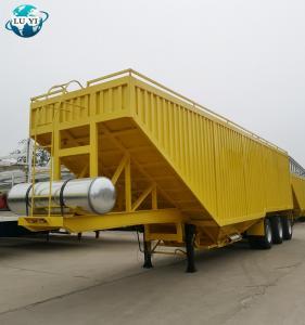 Buy cheap Luyi brand 3 axle Grain Dump Tipper Truck grain trailers for sale product