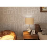 Buy cheap 0.53*10M Modern Non - woven Wallpaper , Fashion LOVE English Letters Wallpaper product