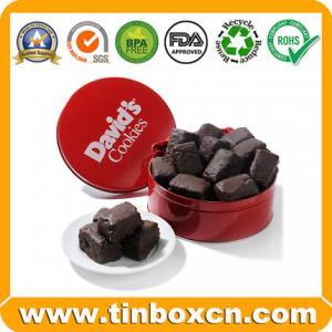 Lata do chocolate, caixa do chocolate, lata de lata redonda, caixa da lata do alimento