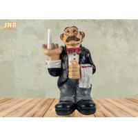 China Polyresin Butler Sculpture Toilet Paper Holder Funny Resin Waiter Home Decoration on sale
