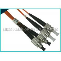 Buy cheap FC - ST Multimode Fibre Optic Patch Leads OM2 Full Metall Body APC Polish product