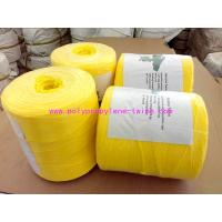 Buy cheap Yellow Fibrillated Yarn Polypropylene Baling Twine Free Sample 1% - 2% UV from wholesalers