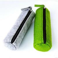 Buy cheap Cylindric Felt Zipper Soft Pencil Pouch Eco-Friendly Waterproof Single Layer product