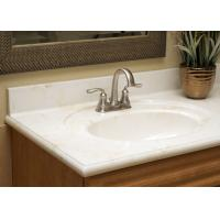 Buy cheap Pure White Artificial Stone Countertops Vanity Tops Bath Tub Montary Brand product