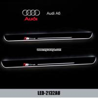 China Audi A6 car led lights moving door sill plate pedal steps for sale wholesale