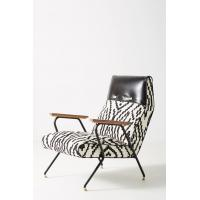 Buy cheap Maura Printed Quentin Fiberglass Lounge Chair With Leather Headrest product
