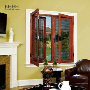 Buy cheap Red Aluminum Double Glazed Windows / Buildings Aluminum Double Pane Windows product
