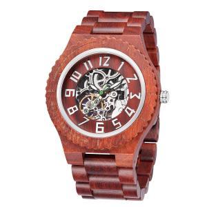 Buy cheap Wooden Wristwatch Solid Wood Clock Mechanical Mens Wrist Watch Custom Logo product