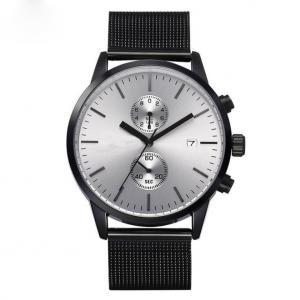 Buy cheap Mens Mesh Strap Black Chronograph Watch product