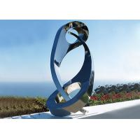 Buy cheap Public Yin Yang Mirror Stainless Steel Sculpture For Decoration , 180cm Height from wholesalers