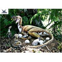 Buy cheap Outdoor Moving Velociraptor Life Size Model For Garden Display / Festival Exhibition product