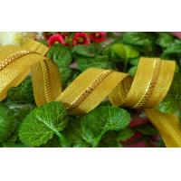 Buy cheap Long #5 Gold Resin Zipper For Garment With Yellow Polyester Tape product