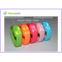 China 2GB to 32GB USB Flash Drive Multifunctional Silicon Bracelet LED Watch USB with Tf Card Slot on sale